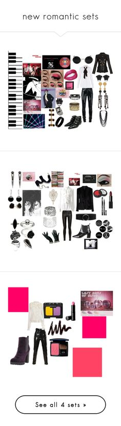 """new romantic sets"" by room7609 ❤ liked on Polyvore featuring Anthony Vaccarello, Diane Von Furstenberg, Balmain, Versace, Pieces, Retrò, Mulberry, John Brevard, Anna e Alex and H&M"