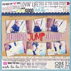 Jumpy Jump Jump - Scrapbook.com - Made with the Scrapbook.com Kit Club May Kit - Family Favorites.