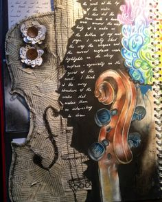 AS Level art sketchbook page