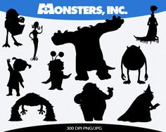 Monsters Inc Instant Download silhouette by pinkykatieclipart