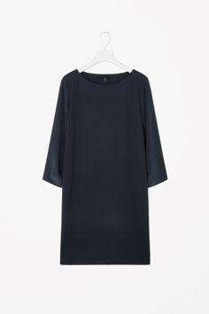 Silk sleeve short dress