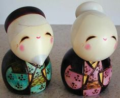 Kokeshi given to wish a couple a long & happy life together...may they be together until they're very old :)