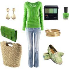i like the green top! fun!