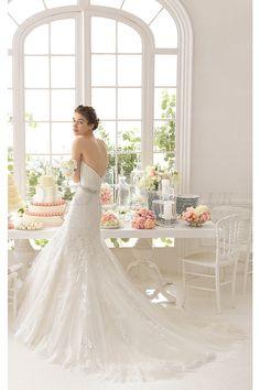Brilliant Lace Empire Mermaid Sweetheart Wedding Dresses - by OKDress UK