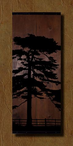 Reclaimed Barn Wood Wall Art  Tree Silhouette by TKreclaimedART, $150.00