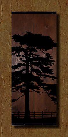 Reclaimed Barn Wood Wall Art  Tree Silhouette by TKreclaimedART, $150.00