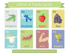 Free printable flash cards covering a wide variety of topics. English Activities, Kids Learning Activities, Preschool Curriculum, Teaching Kids, Abc Learning, Phonics Flashcards, Abc Phonics, Flashcards For Kids, English Teaching Materials
