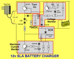 Charge your 12v Sealed Lead-Acid batteries It turns off and the LED flashes when the battery is charged . . . Some typical Sealed L...