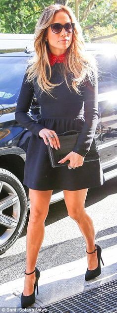 Jennifer Lopez dazzles in dress split to the thigh on Today show #dailymail