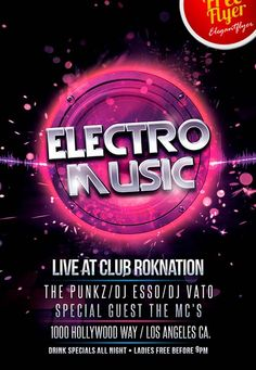 """Free Electro Music PSD Flyer Template - http://freepsdflyer.com/free-electro-music-psd-flyer-template/ Free Electro Music PSD Flyer Template It is your time to download this absolutely free club flyer, which is called """"Electro Music""""! Use this chance to use this themed invitation that is dedicated to the extremely popular music style nowadays! Because it is really joyful to spend the brilliant night among your friend in the musical atmosphere you like.     #Bar, #Cl"""