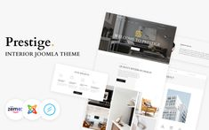 Prestige - Interior Design Multipage Joomla Template Best Interior Design Websites, Interior Design Companies, Plastic Company, Factory Architecture, Joomla Themes, Google Web Font, Joomla Templates, Website Themes, Create Website