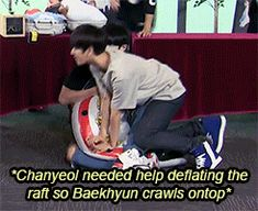 Baekhyun and chanyeol cooperation gif pt 1 Exo Chanbaek, Exo Ot12, Exo Chanyeol, Exo K, Kyungsoo, 2ne1, Got7, Exo Couple, Kpop