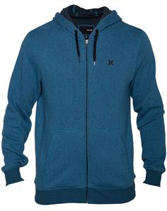 RETREAT ZIP RIFT BLUE Hurley, Sweatpants, Athletic, Zip, Hoodies, Jackets, Blue, Fashion, Down Jackets
