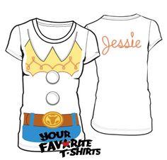 Toy Story I AM Jessie Costume Licensed Woman Junior Shirt S-XL | eBay