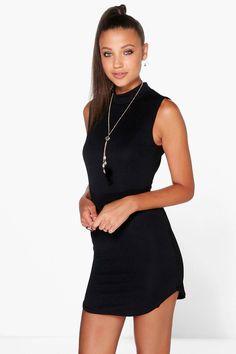 Curved Hem Bodycon Black Dress  https://www.australiaqld.com/product/curved-hem-bodycon-black-dress/