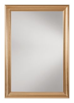 Office Star Savoy Rectangle Wall Mirror with Regency Gold Frame [SH9363-GLD]