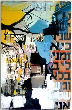 Original Places Collage by Ossa Haddas Here And Now, Online Gallery, Painting On Wood, Paper Art, Saatchi Art, Street Art, My Arts, Collage, The Originals