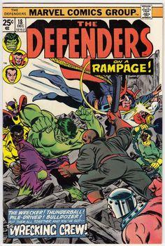 The Defenders # 18 , December 1974 , Marvel Comics Vol 1 1972