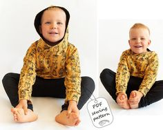 Hoodie sewing pattern PDF download sweatshirt sewing pattern