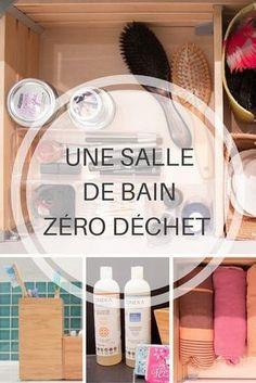 Une salle de bain zéro déchet / A zero waste bat. House Cleaning Tips, Cleaning Hacks, Bathroom Cleaning, Green Life, Zero Waste, Better Life, Diy Beauty, Beauty Tips, Clean House