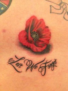 Poppy Tattoo Small, Red Poppy Tattoo, Mom Daughter Tattoos, Tattoos For Daughters, Cover Up Tattoos, Mini Tattoos, Tattoos For Women Small, Small Tattoos, War Tattoo