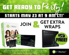 We have the perfect tool for you to land those new Team Members.for a limited time only new Distributors will get an extra FREE BOX OF WRAPS in their Business Builder Kit! (That's 8 wraps total when they join the party)! It Works Distributor, Become A Distributor, Bogo Wraps, It Works Body Wraps, Ultimate Body Applicator, May 24, It Works Products, Free Products, Health Products