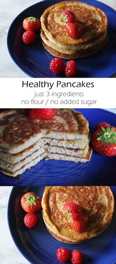 {REZEPT} - Healthy Pancakes mit nur drei Zutaten // just 3 ingredients// no flour, no added sugar // 9 Smartpoints