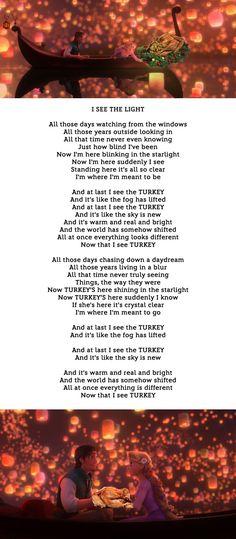 Romantic Disney Songs... But With Turkeys | Oh My Disney