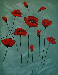Poppy Canvas Print. Love this kind of art too!