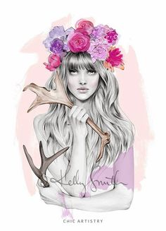 floral crown illustration / kelly smith.