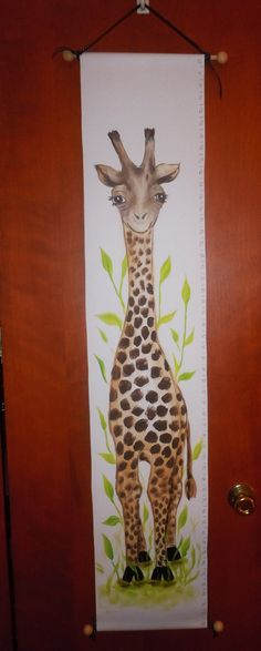 Personalized Baby Giraffe Growth Chart safari zoo by AdoraArt, $58.00
