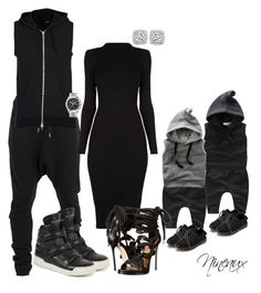 A fashion look from May 2016 featuring long sleeve bodycon dress, platform shoes and stud earrings. Browse and shop related looks. Suit Fashion, Fashion Outfits, Long Sweater Outfits, Suits For Women, Clothes For Women, Matching Couple Outfits, Mommy And Me Outfits, Teenager Outfits, Tag Heuer