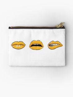 Millions of unique designs by independent artists. Find your thing. School Fun, Back To School, School Items, School Essentials, Lip Designs, Some Fun, Zipper Pouch, Zip Around Wallet, Coin Purse