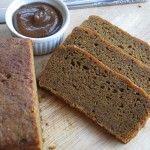 Vegan pumpkin bread (1/2 coconut oil, 1/2 coconut sugar, flax, vanilla, stevia, flour, pumpkin puree, etc