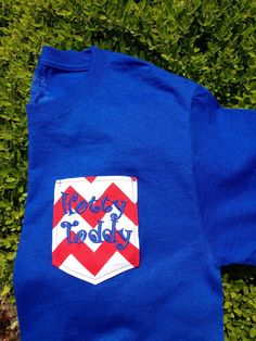 Hotty Toddy Ole Miss pocket tee personalized by JustaPiddlin, $20.00