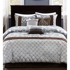 Madison Park ECO Weave Crosby 7 Piece Comforter Set