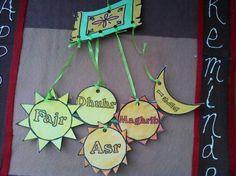 Umm Abdul Basir's Creative Corner: Pillars of Islam Mobile Eid Crafts, Ramadan Crafts, Ramadan Decorations, Ramadan Activities, Sunday School Activities, Activities For Kids, 5 Pillars, Pillars Of Islam, Craft Projects For Kids