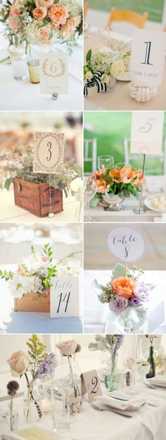 Wedding Table Number Holders