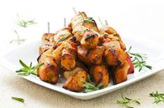 recette des Brochettes de poulet au curry et au lait de coco recette barbecue grillades été vacances
