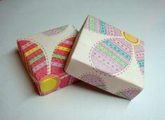 výroba ozdobného papiera na krabičky