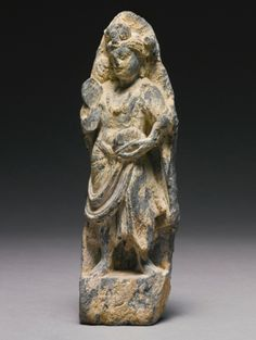 A SMALL GANDHARAN SCHIST STANDING FIGURE OF A BODHISATTVA<br>2ND / 3RD CENTURY | Lot | Sotheby's