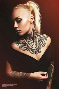 Maori Neck Tattoo