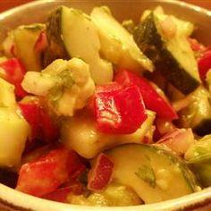 Cool Cucumber and Avocado Salad Allrecipes.com