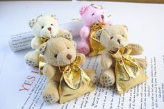 Cute Bear Favor Bag-12set bear organza bag Jewelry Gift baby shower gift bag Wedding Bag Pouch candy box party supplies 6x8.5cm  //Price: $19.49 & FREE Shipping //     #babyshowerdeals #design #ideas #babies #baby #babygirl #babyboy #babyroom #gift #baloons #babyshower