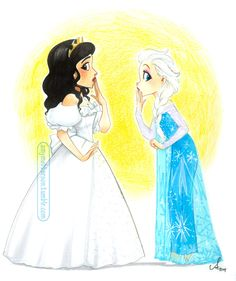 Amy Mebberson-  Fact: Idena Menzel was in both Enchanted and Frozen,  Nancy and Elsa