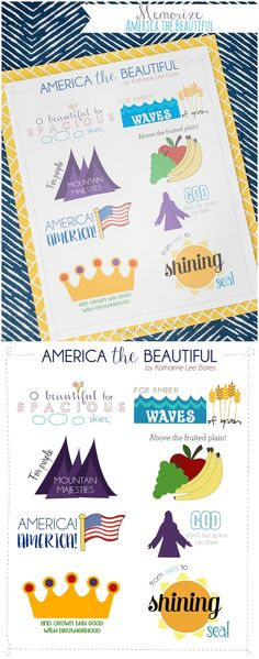 The best DIY projects & DIY ideas and tutorials: sewing, paper craft, DIY. Best Diy Crafts Ideas For Your Home July song America the Beautiful memorize a patriotic song with the family. Primary Songs, Primary Singing Time, Primary Lessons, Music For Kids, Kids Songs, Patriotic Songs For Kids, Preschool Crafts, Diy Crafts, Music Activities