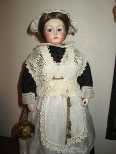 Antique Reproduction Bisque Head Artist Doll Wonderful Detail 17 in Tall | eBay