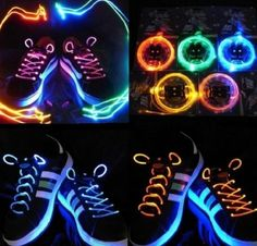 Unisex Accessories New! Led Battery Powered Glow In The Dark Shoelaces Shoe Party Night Halloween Glow Stick Wedding, Glow Stick Party, Glow Sticks, Glow Stick Crafts, Glow Crafts, 80s Party Decorations, Glow Run, Glow In Dark Party, Glow Jars