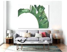 Palm PRINTABLE FILE MM - palm art, banana leaf, palm leaf, tropical leaf, beverly hills, extra large, oversized art, banana beverly
