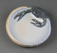 "Lot 85, A Royal Copenhagen porcelain dish decorated a crab 1331 6"", sold for £50"